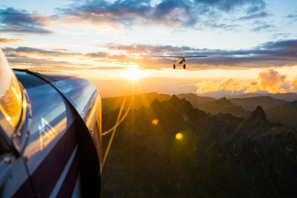 Alaska Sunset Flight