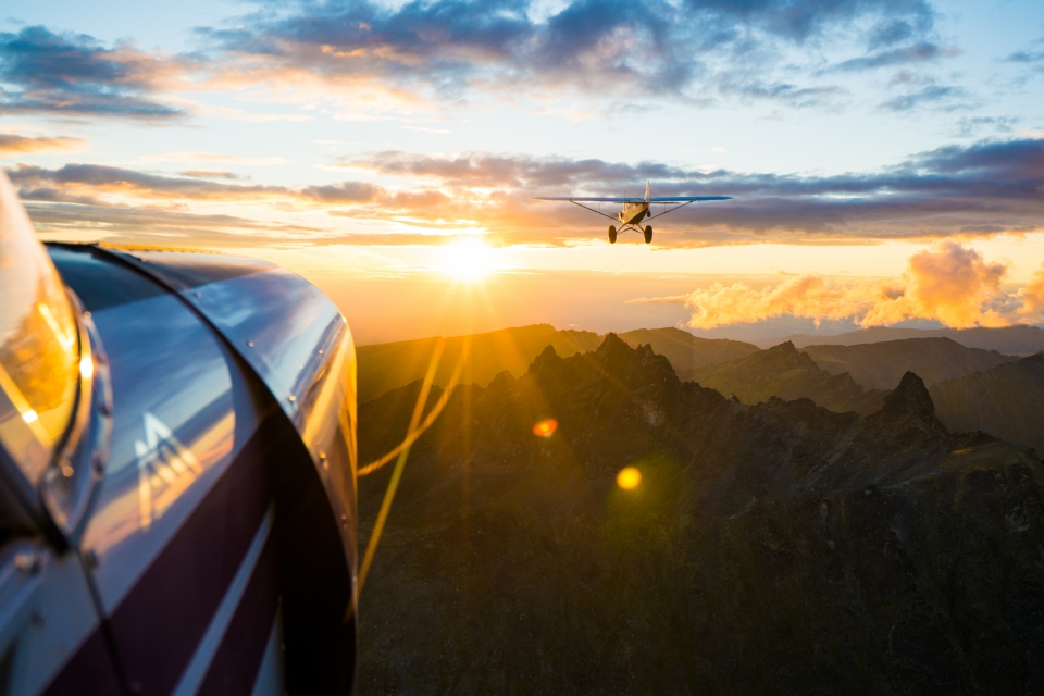 Alaska Sunset Flight